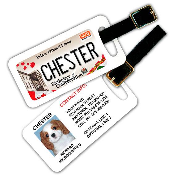 Prince Edward Island Licence Plate Pet Luggage Tag