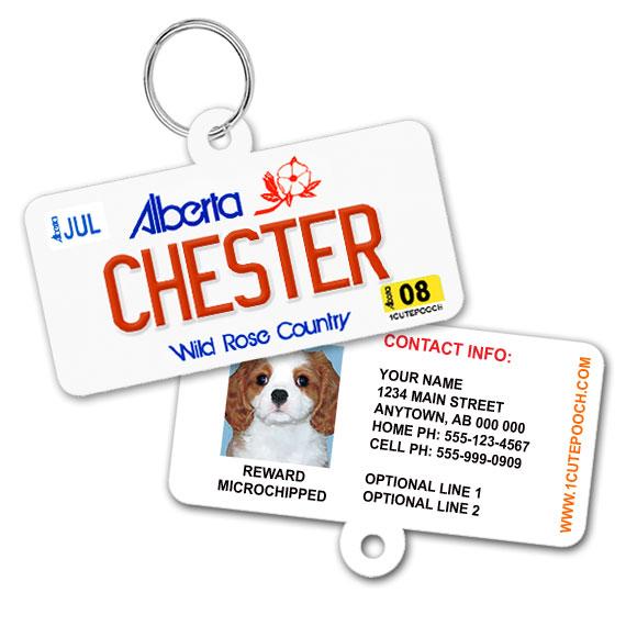 Alberta Licence Plate Pet ID Tag