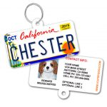 California License Plate Pet ID Tag