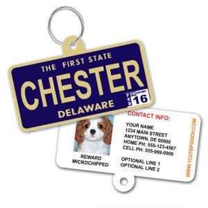 Delaware License Plate Pet ID Tag