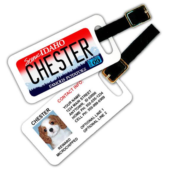Idaho License Plate Pet Luggage Tag