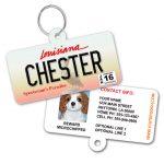 Louisiana License Plate Pet ID Tag