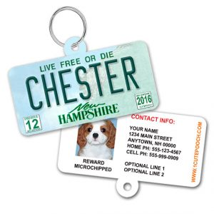 new hampshire license plate id tag