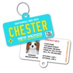 new mexico blue license plate id tag