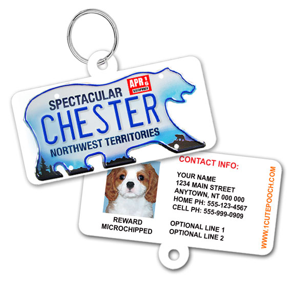 Northwest Territories Licence Plate Pet ID Tag