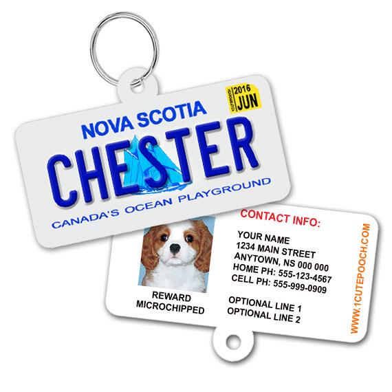 Nova Scotia Licence Plate Pet ID Tag