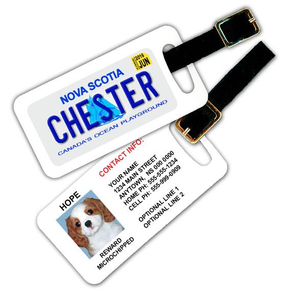Nova Scotia Licence Plate Pet Luggage Tag