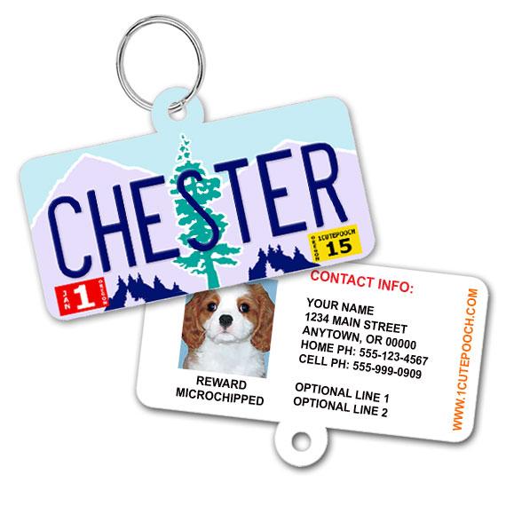Oregon License Plate Pet ID Tag