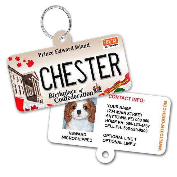 Prince Edward Island Licence Plate Pet ID Tag