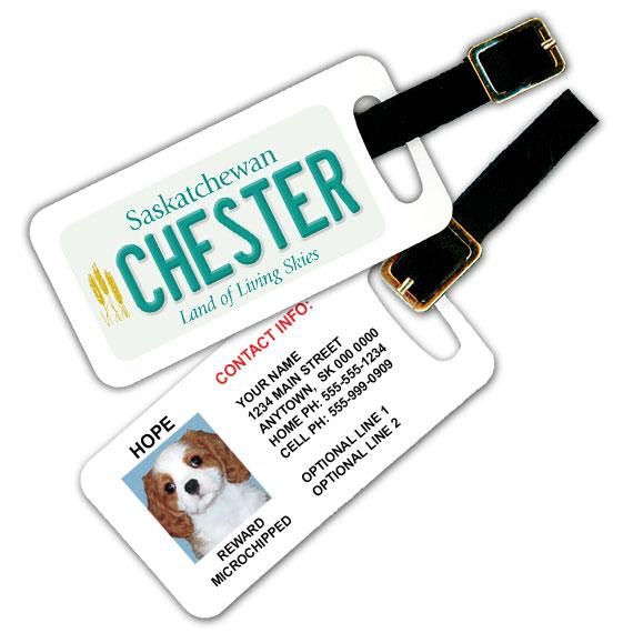 Saskatchewan Licence Plate Pet Luggage Tag