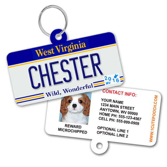 west virginia license plate id tag
