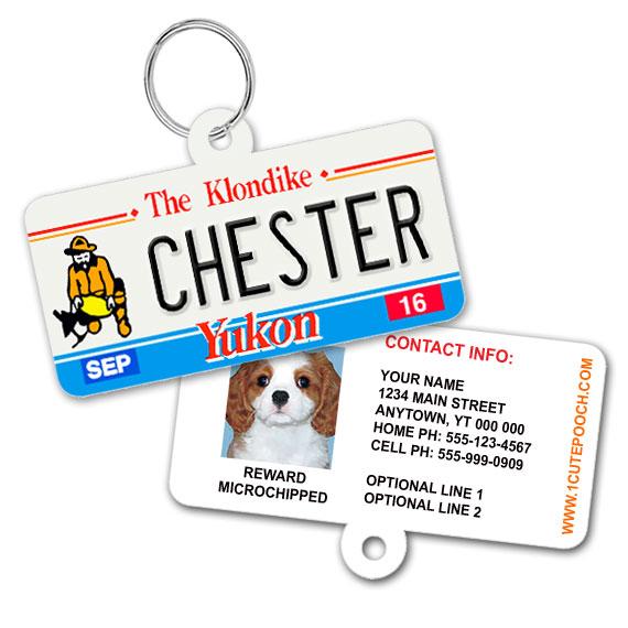 Yukon Licence Plate Pet ID Tag