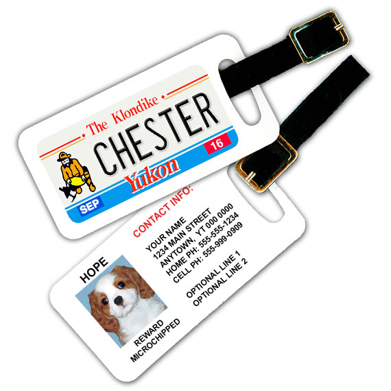 Yukon Licence Plate Pet Luggage Tag
