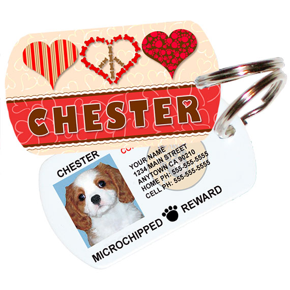 Three Hearts Pet ID Tag