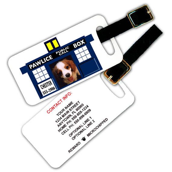doctor who luggage tag