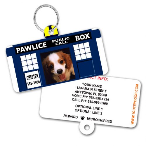 Doctor Woof Pawdis Pet ID Tag