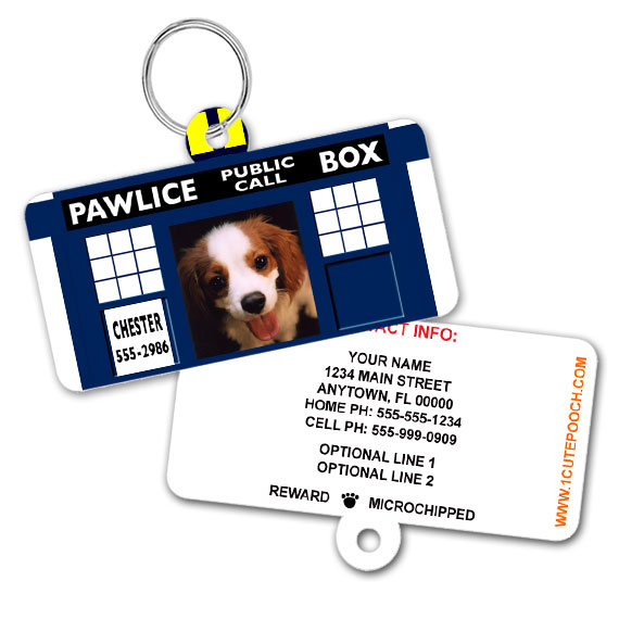 doctor who pet id tag