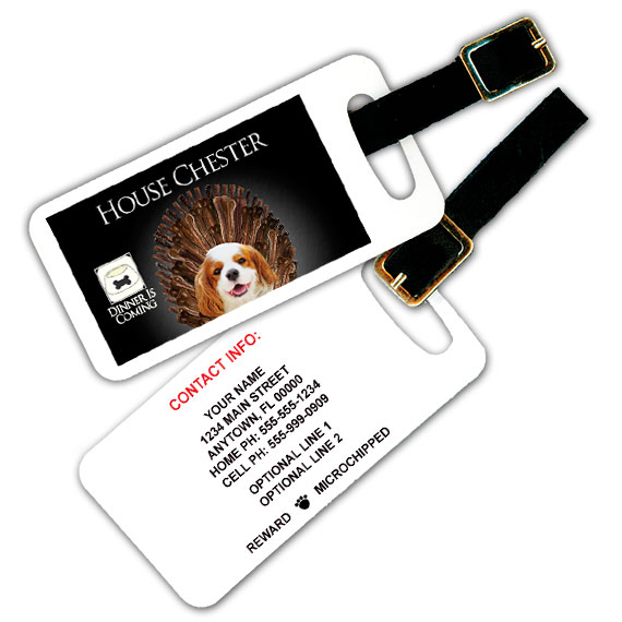 Game Of Bones Pet Luggage Tag