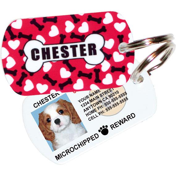 Hearts and Bones Pet ID Tag