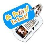 Oh Poop! I'm Lost! Custom Pet ID Tag (Blue)