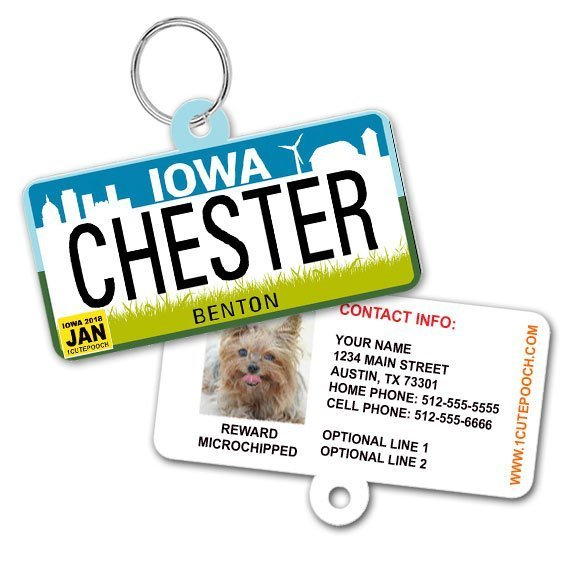 iowa license plate id tag 570 2018