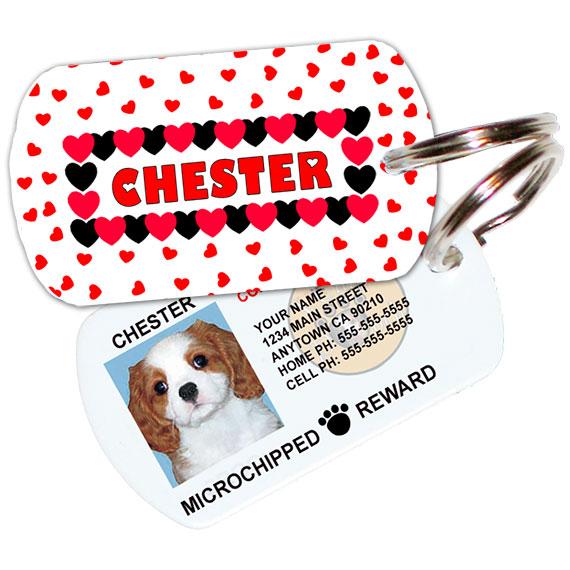 Lil Hearts Pet ID Tag