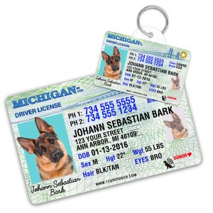 michigan driver license pet id tag 800