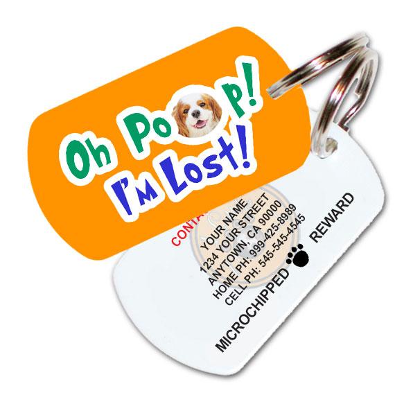 Oh Poop! I'M Lost! Custom Pet ID Tag