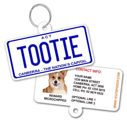 ACT Number Plate Pet ID Tag