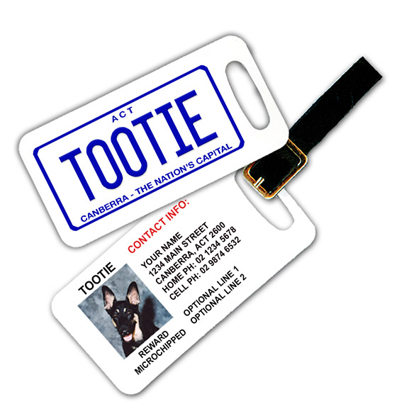 ACT Number Plate Pet Luggage Tag