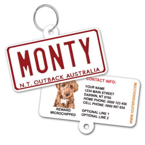 Northern Territory Australia Number Plate Pet ID Tag