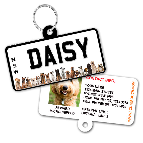 New South Wales Number Plate Dog ID Tag