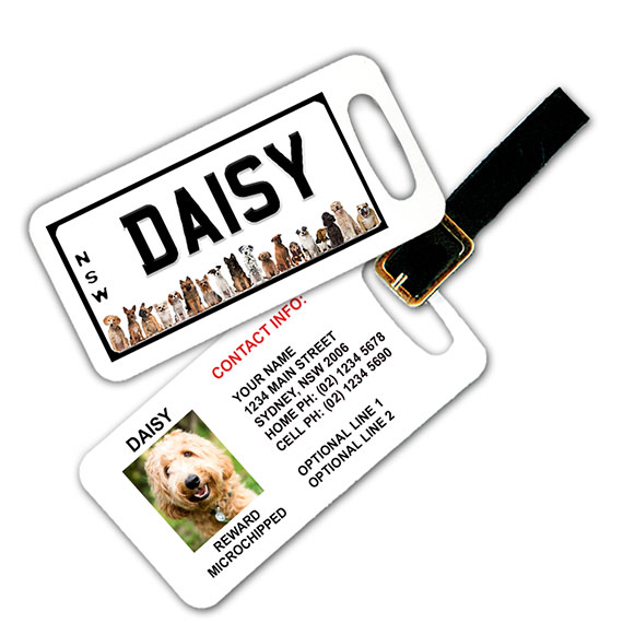 New South Wales Number Plate Pet Luggage Tag