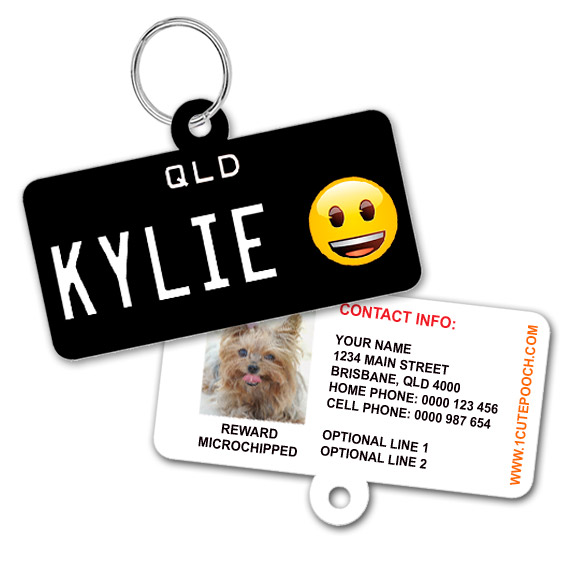 Queensland Number Plate Pet ID Tag