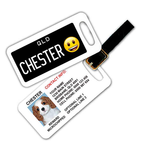 Queensland Number Plate Pet Luggage Tag