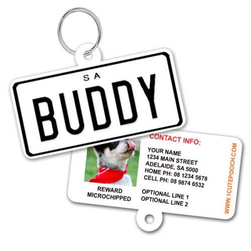 South Australia Number Plate Pet ID Tag