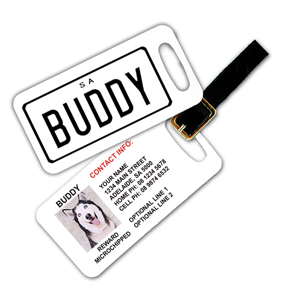 South Australia Number Plate Pet Luggage Tag