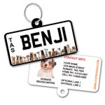Tasmania Number Plate Dog ID Tag