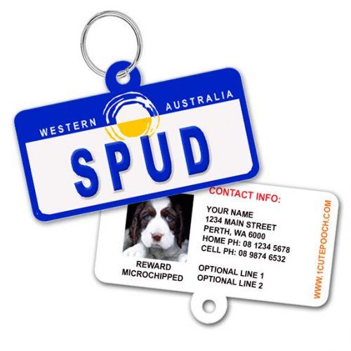 Western Australia Number Plate Pet ID Tag