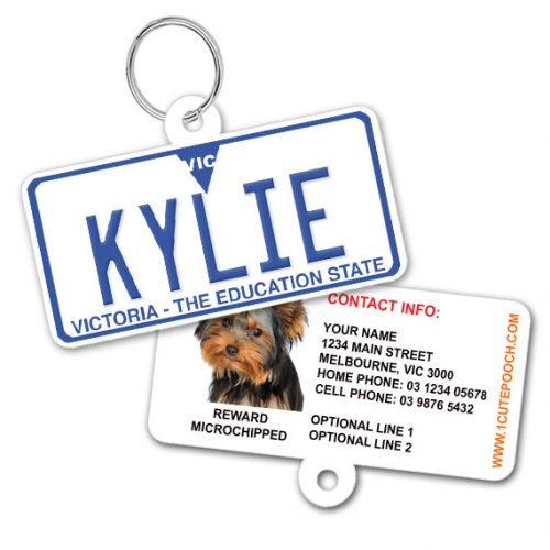 Victoria Standard Number Plate Pet ID Tag