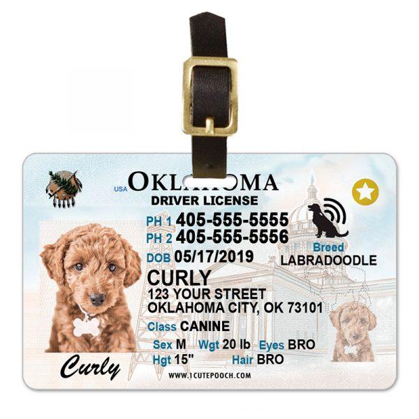 Oklahoma Driver License Pet Luggage Tag