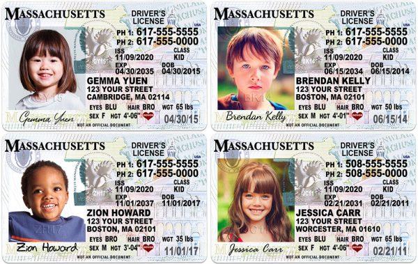 Massachusetts Kid Driver License
