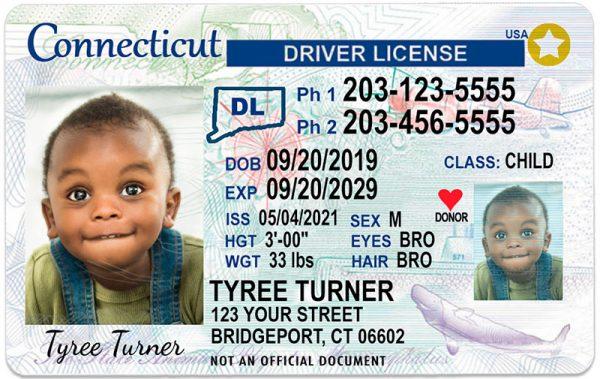 Connecticut Kid Driver License