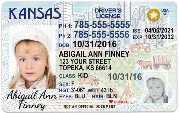 Kansas Kid Driver License