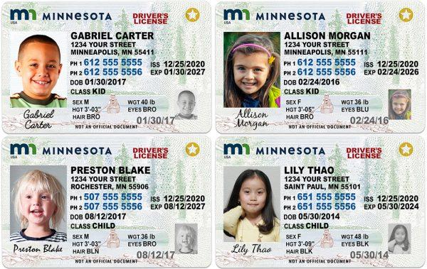 Minnesota Kid Driver License