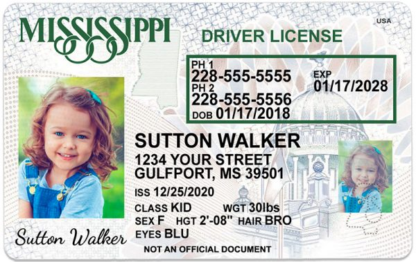 Mississippi Kid Driver License