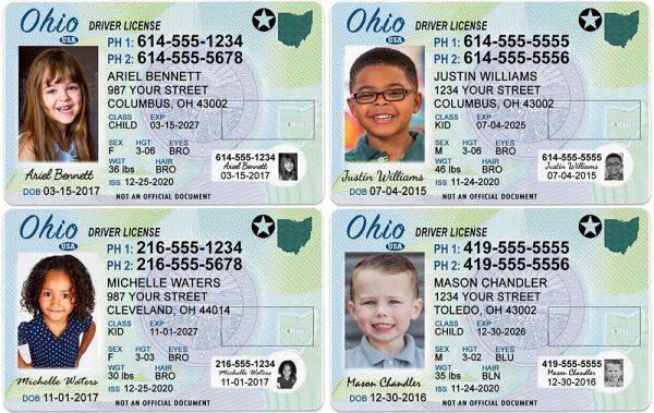 Ohio Kid Driver License