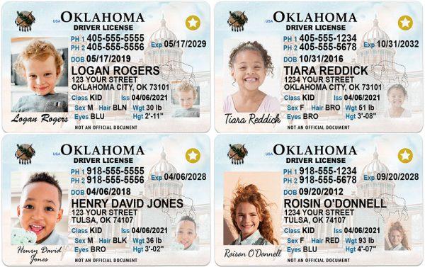 Oklahoma Kid Driver License