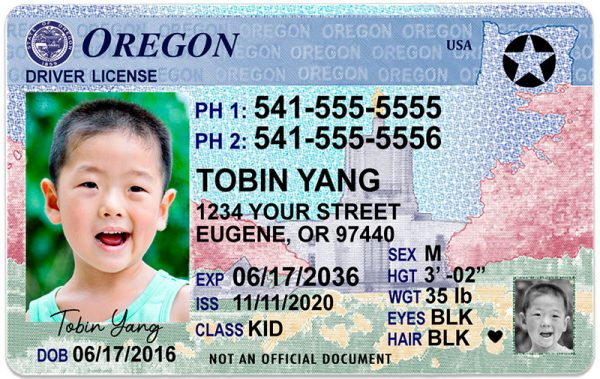Oregon Kid Driver License