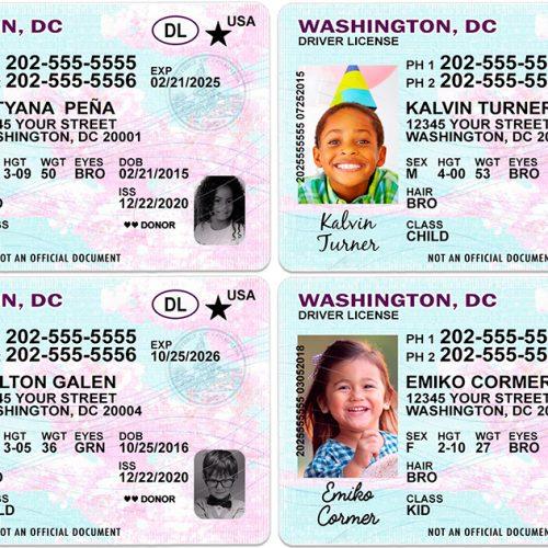Washington DC Kid Driver License
